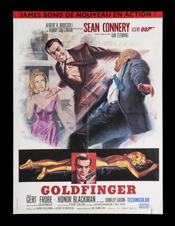 Lot #29 - GOLDFINGER (1964) - French Moyenne Affiche, 1964