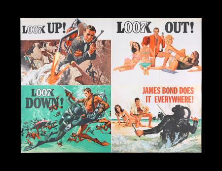 Lot #37 - THUNDERBALL (1965) - UK Quad Advance Poster, 1965