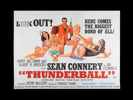 Lot #38 - THUNDERBALL (1965) - UK Quad Poster, 1965