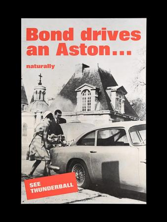 "Lot #41 - THUNDERBALL (1965) - UK Double-Crown ""Aston Martin"" Poster, 1965"