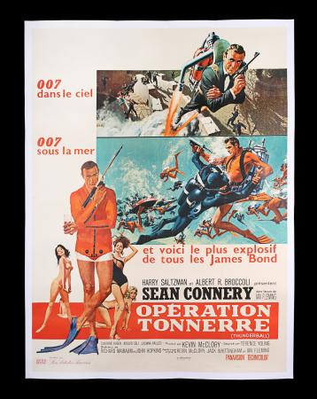 Lot #42 - THUNDERBALL (1965) - Linen-backed French Grande Affiche, 1965