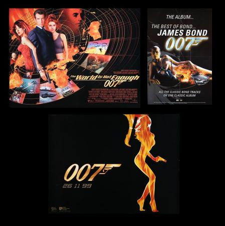 Lot #171 - THE WORLD IS NOT ENOUGH (1999) - Two UK Quad Posters and One Soundtrack Poster, 1999