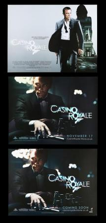 Lot #179 - CASINO ROYALE (2006) - Three UK Quad Posters, 2006
