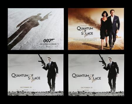Lot #183 - QUANTUM OF SOLACE (2008) - Four UK Quad Posters, 2008