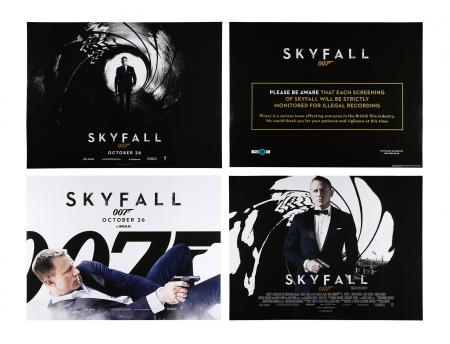 Lot #188 - SKYFALL (2012) - Four UK Quad Posters, 2012