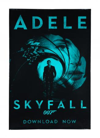"Lot #189 - SKYFALL (2012) - UK ""Adele"" Soundtrack Poster, 2012"