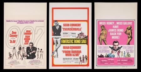 Lot #302 - VARIOUS PRODUCTIONS (1962-1965) - Three US Double-Bill Window Cards, 1965-68 Re-Releases