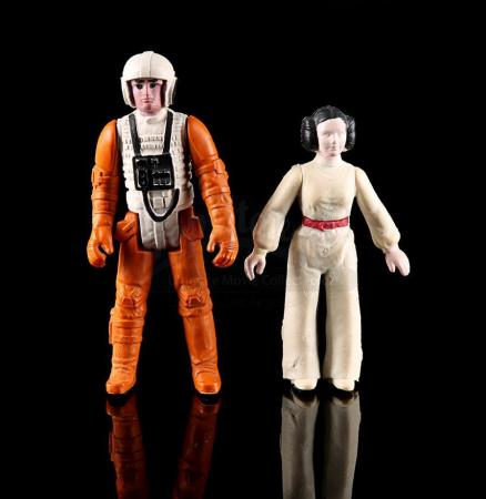 Lot # 60 - Loose Luke Skywalker & Princess Leia (Polish Bootleg Figures)