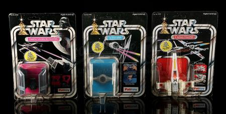 Lot # 159 - Diecast TIE Fighter, Darth Vader TIE Fighter & X-Wing Fighter