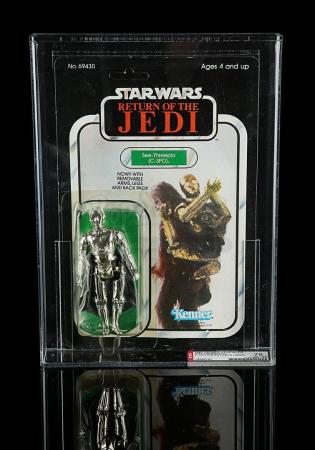 Lot # 200 - C-3PO (Removable Limbs) ROTJ65A AFA 75