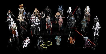 Lot # 580 - Force Unleashed Action Figures