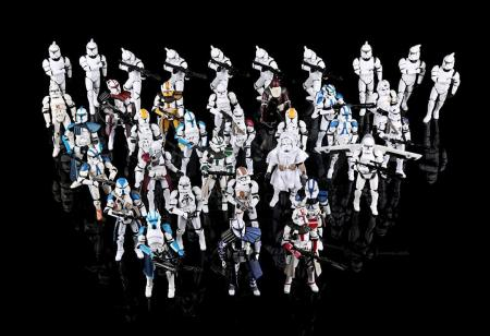 Lot # 581 - Clone Trooper Action Figures