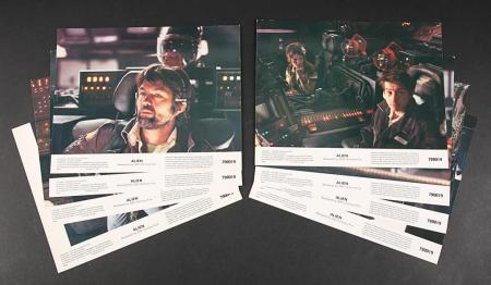 Lot # 1 - Alien & Aliens Collection Auction - Set of Eight U.S. Lobby Cards