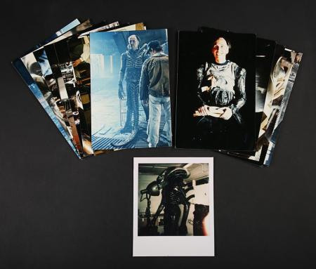 Lot # 51 - Alien & Aliens Collection Auction - Behind the Scenes Photos of Eddie Powell as the Alien