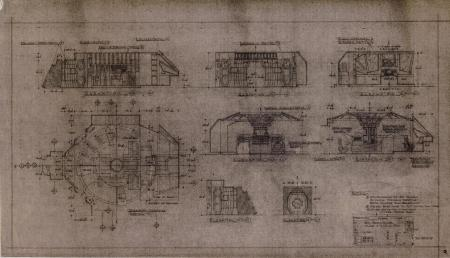 Lot # 82 - Alien & Aliens Collection Auction - Narcissus Internal Detail 'Plan & Elevation' Production Dyeline