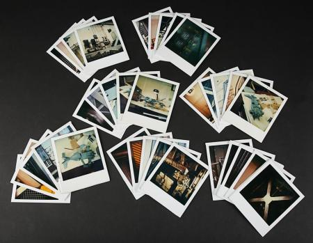 Lot # 107 - Alien & Aliens Collection Auction - Workshop Polaroids of the Dropship Miniature and Sets