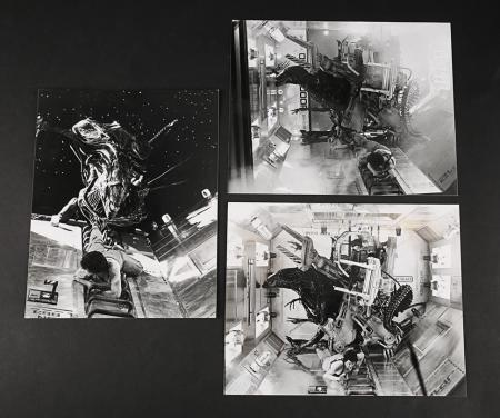 Lot # 132 - Alien & Aliens Collection Auction - Set of Stills Showing Ripley Trying To Escape From The Queen