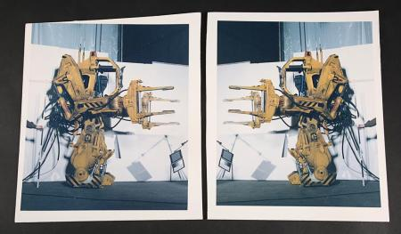Lot # 137 - Alien & Aliens Collection Auction - Two Lighting Test Images of the Power Loader