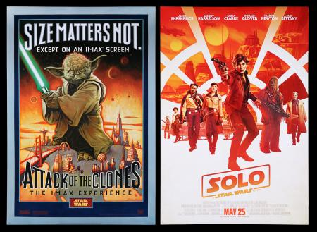 Lot #5 - STAR WARS: ATTACK OF THE CLONES (2002) AND SOLO: A STAR WARS STORY (2018) - Two Star Wars themed Posters, 2002 / 2018