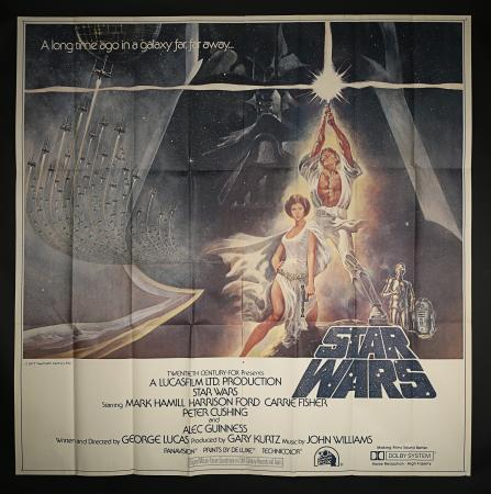 Lot #10 - STAR WARS: A NEW HOPE (1977) - US / International Style A Six Sheet, 1977