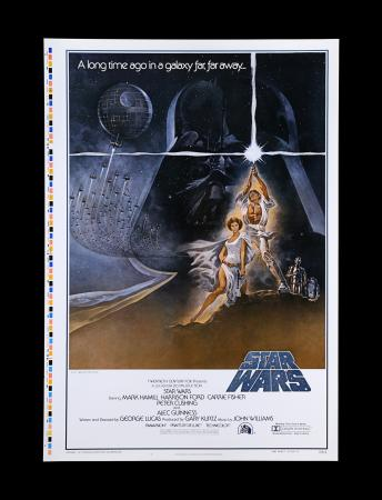 "Lot #11 - STAR WARS: A NEW HOPE (1977) - US One-Sheet Style-A ""Printer's Proof"" Poster, 1977"