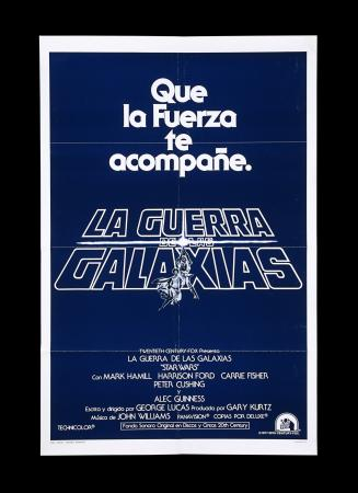 Lot #12 - STAR WARS: A NEW HOPE (1977) - US/Spanish One-Sheet Teaser Poster, 1977