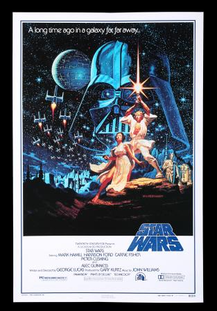 "Lot #13 - STAR WARS: A NEW HOPE (1977) - US One-Sheet Style-B ""Kilian"" Anniversary Poster, 1992"