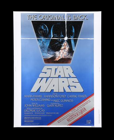 Lot #15 - STAR WARS: A NEW HOPE (1977) - US 30x40 Poster, 1982 Re-Release