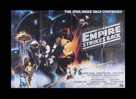 Lot #17 - STAR WARS: THE EMPIRE STRIKES BACK (1980) - ESB Quad Poster, 1980 - Gone With the Wind Style A Design