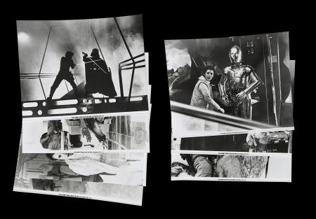 Lot #21 - STAR WARS: THE EMPIRE STRIKES BACK (1980) - Set of Eight US Front of House Lobby Cards, 1980