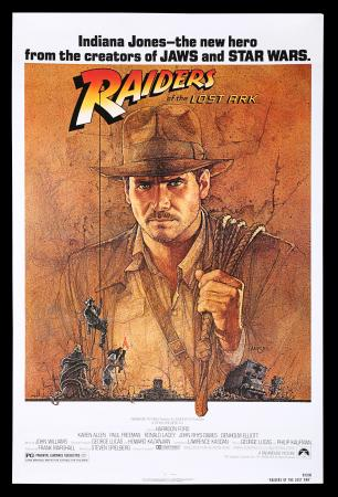 Lot #74 - RAIDERS OF THE LOST ARK (1981) - Richard Edlund Collection: US One-Sheet Poster, 1981