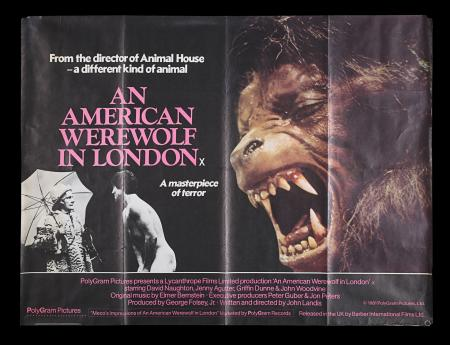 Lot #87 - AN AMERICAN WEREWOLF IN LONDON (1981) - UK Quad Poster, 1981