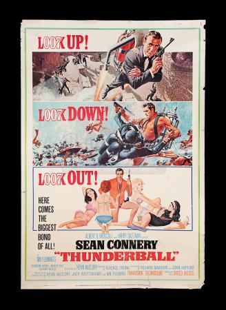 "Lot #106 - THUNDERBALL (1965) - Carter-Jones Collection: US 60"" x 40"" Poster, 1965"