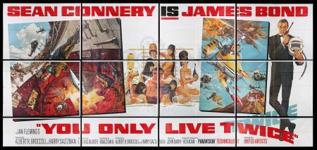 Lot #115 - YOU ONLY LIVE TWICE (1967) - Carter-Jones Collection: US Twenty-Four Sheet Poster, 1967