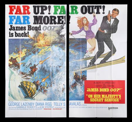 Lot #117 - ON HER MAJESTY'S SECRET SERVICE (1969) - Carter-Jones Collection: US Six-Sheet Poster, 1969