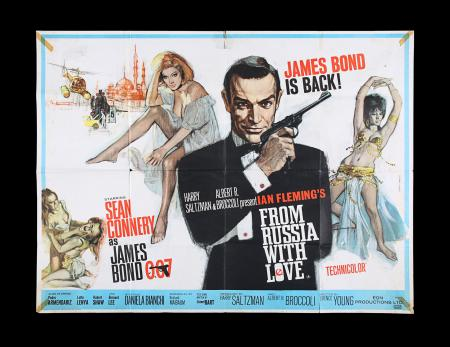Lot #140 - FROM RUSSIA WITH LOVE (1963) - UK Quad Poster, 1963