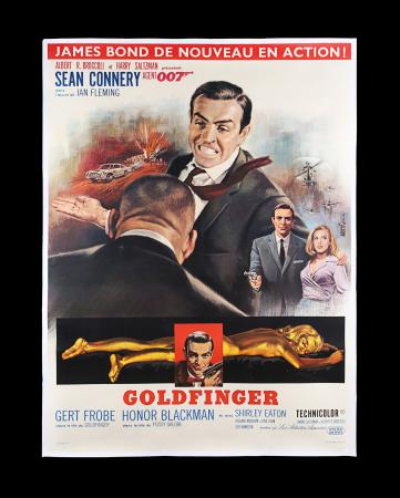 Lot #141 - GOLDFINGER (1964) - French 'Grande' Affiche, 1964 - First year of French Release