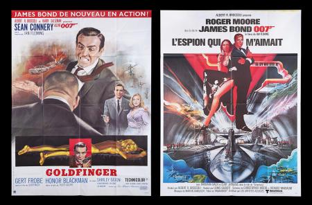Lot #142 - GOLDFINGER (1964) AND THE SPY WHO LOVED ME (1977) - Two French 'Grande' Affiche, 1977/80's