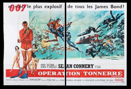 Lot #145 - THUNDERBALL (1965) - French Two-Panel Poster, 1965