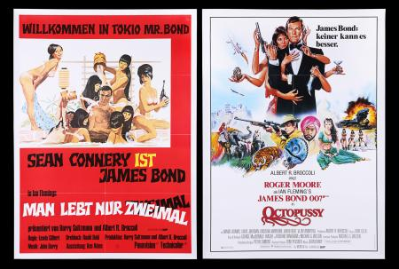 Lot #146 - YOU ONLY LIVE TWICE (1967) AND OCTOPUSSY (1983) - Two German A1 Posters, 1980's