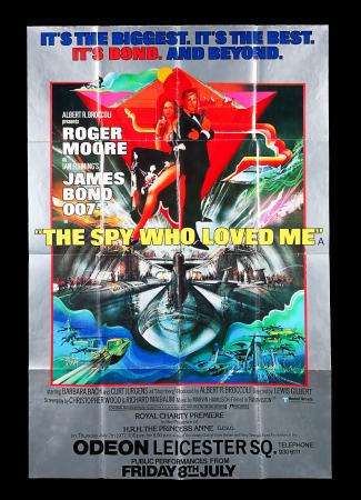 "Lot #155 - THE SPY WHO LOVED ME (1977) - UK Bus Stop ""Premiere"" Poster, 1977"