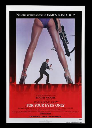 Lot #160 - FOR YOUR EYES ONLY (1981) - US One-Sheet Autographed Advance Poster, 1981