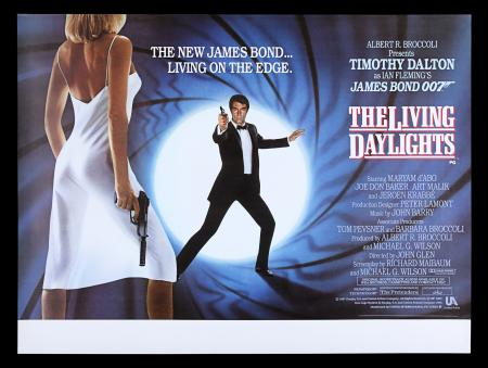 Lot #165 - THE LIVING DAYLIGHTS (1987) - UK Quad Poster, 1987