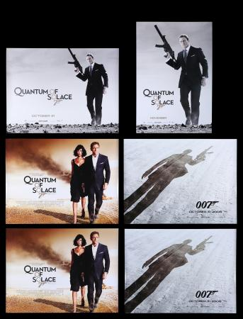 Lot #167 - QUANTUM OF SOLACE (2008) - Five UK Quad Posters and US / Intl. One-Sheet Poster, 2008