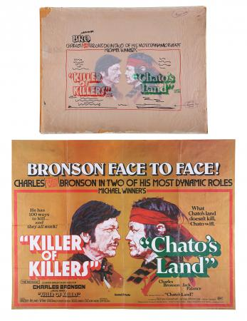 Lot #179 - KILLER OF KILLERS / CHATO'S LAND (1972) - Original Film Poster Artwork and Complementing UK Quad, 1972