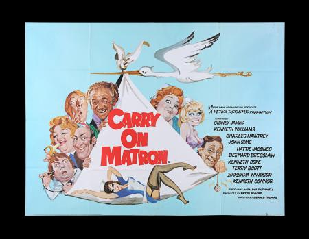 Lot #192 - CARRY ON MATRON (1972) - UK Quad Poster, 1972