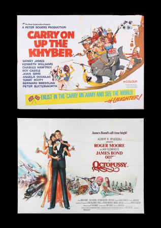 Lot #193 - CARRY ON UP THE KHYBER (1968) AND OCTOPUSSY (1983) - Two UK Quad Posters, 1968-83