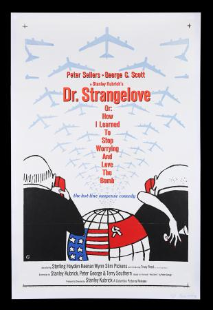 Lot #195 - DR. STRANGELOVE OR: HOW I LEARNED TO STOP WORRYING AND LOVE THE BOMB (1964) - US One-Sheet Poster, 1964