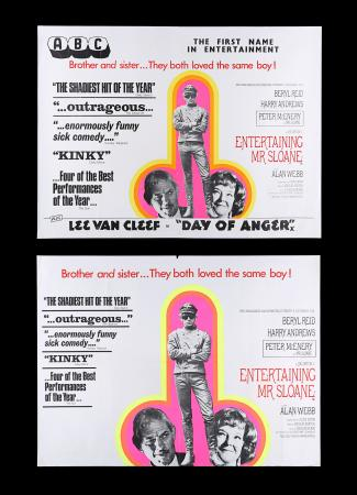 Lot #196 - ENTERTAINING MR. SLOANE (1970) - Two UK Quad Posters, 1970