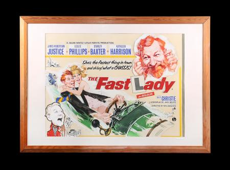 Lot #197 - THE FAST LADY (1962) - Final UK Quad Poster ARTWORK, 1962